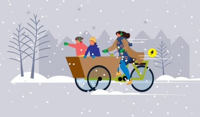 Kom met je elektrische (bak)fiets de winter door! 10 tips