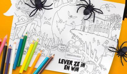Griezelige Halloween kleurplaat