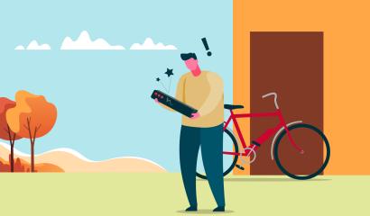 Mijn fietsaccu is gevallen. Kan ik hem nog gebruiken?